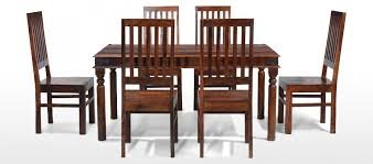 jali sheesham 160 cm thakat dining table and 6 chairs quercus living