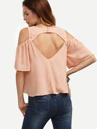 cold shoulder tops tops cold shoulder pink