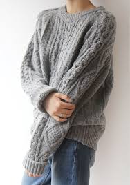 oversized chunky knit sweater sweater by elocution g o o d l o o k s