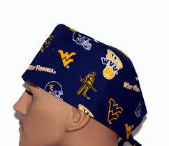 Wvu Home Decor West Virginia University Scrub Cap Wvu Scrub Hat Scrub Hat