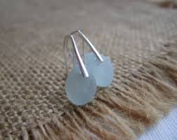 in earrings sea glass earrings etsy