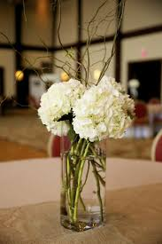 hydrangeas curly willow simple wedding centerpieces simple