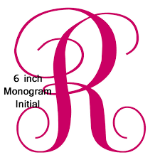 Initial Monograms 6 Inch Tall Initial Monogram Decal Sticker By Vinylgifts On Etsy