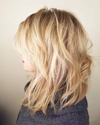 images of medium length layered hairstyles messy medium length white blonde blonde hair with layers