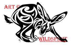 tribal hare tattoo design by wildspiritwolf on deviantart