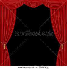 Curtains On A Stage Open Theater Drapes Stage Curtains Black Stock Illustration