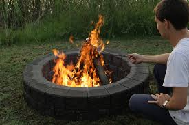 build your own fire pit and enjoy the backyard all year round