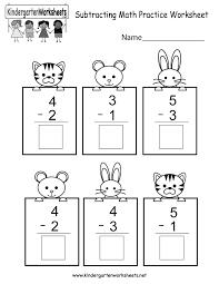free printable subtracting math practice worksheet for kindergarten