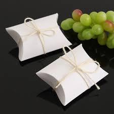 50pcs white pillow favor candy boxes kraft paper gift box wedding