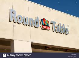 round table pizza santa ana round table pizza sign on an outlet in santa ana california stock