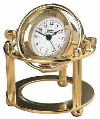 Wood Desk Clock Weems And Plath Solaris Desk Clock 790500