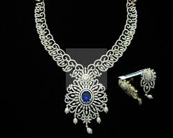 diamond necklace images photos images Diamond necklace diamond neck choker with pearls medium diamond jpg
