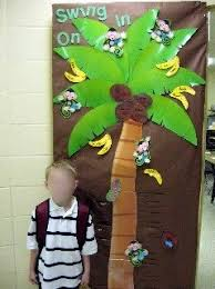 swing on in palm tree door decoration idea myclassroomideas