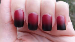 easy halloween black and red gradient nail art tutorial youtube