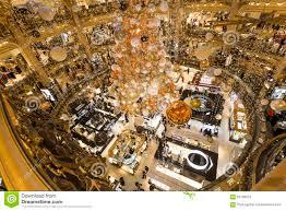 christmas decorations at le printemps store paris france