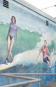Surf Mural by Surfwriter Girls Surf City Surfing Museum U2013 25th Year