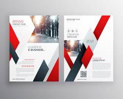 red flyer template flyer template business brochure editable a4