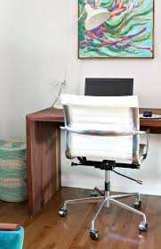 home office makeover with a colorful mid century modern inspired