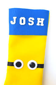 diy felt minion stocking rockin mama