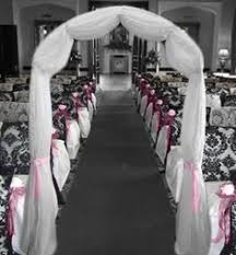 wedding arches decorated with tulle add more flowers to this arch as it is and it will look more grand