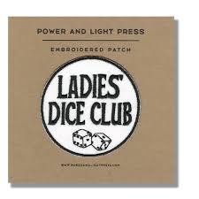 power and light press ladies dice club patch powerandlightpress
