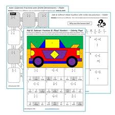 adding and subtracting fractions coloring page 18 best fractions