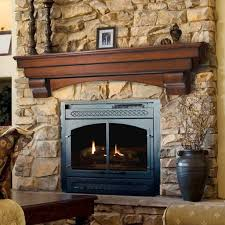 living room classic red oak crafted mantel shelf concrete stone