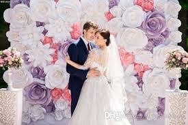 wedding backdrop paper flowers set big cardboard paper handmade simulation flowers backdrops