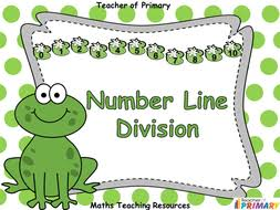 number line division animated powerpoint presentation and