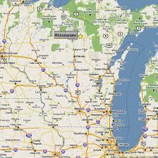 Wisconsin Rapids Map by Rhinelander Wisconsin