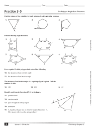 excellent exquisite worksheet triangle sum and exterior angle