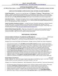 Msw Resume Military Veteran Resume Examples Military Veteran Resume Examples