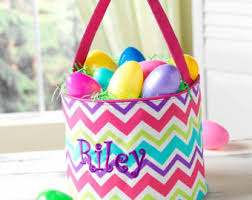 personalized easter egg baskets easter etsy