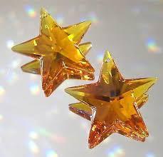 swarovski 2 topaz prism ornaments suncatchers