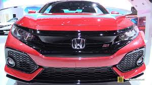 honda civic 2017 interior 2017 honda civic si coupe exterior and interior walkaround
