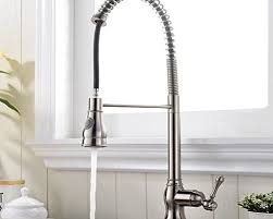 spring pull down kitchen faucet brushed kitchen faucets part 10