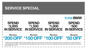 irvine bmw parts bmw service coupons discounts specials oc bmw service center