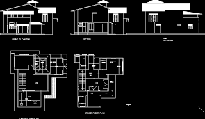 Modern House Design Bungalow Philippines Ideasidea - Autocad for home design