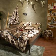 Wolf Bed Sets Luxury Cotton Wolf Warriors Bedding Set Embroidery