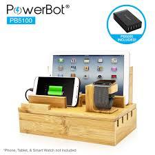 charging station organizer powerbot pb5100 40watt 8amp 5 port rapid universal charging