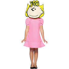 Snoopy Halloween Costume Kids Peanuts Sally Child Halloween Costume Walmart
