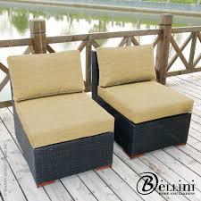 Armless Slipper Chair Bali 5 Piece Corner Sectional Seating W771051 Bellini