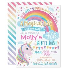 unicorn invitations zazzle