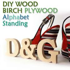 diy natural birch wood standing alphabet initial home decor letter