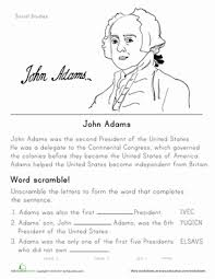 historical heroes john adams worksheet education com