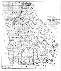 Cook County Map Maps 1895 Hall U0027s Original County Map Of Georgia Georgiainfo