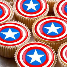 captain america cake topper 24 x edible icing cake toppers decorations captain