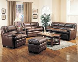 Leather And Fabric Living Room Sets Living Room Leather Living Room Set In Brown Traditional
