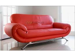 3 Seater And 2 Seater Sofa Florence Red 3 Seater Faux Leather Modern Sofa