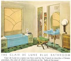 1930 Bathroom Design Vintage Blue Bathroom Colors From Seven Manufacturers From 1927 To